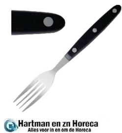 C135 - Steakvork zwart heft per 12 stuks