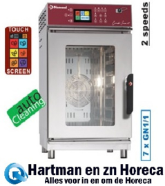 FVS-711/TS - Combisteamer elektrische oven 7x GN1/1 Touch Screen + Auto-Cleaning DIAMOND