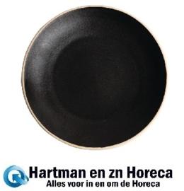 FA318 -Olympia Canvas gewelfde borden zwart 27cm 6stuks