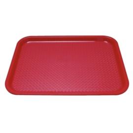 P510 - Dienblad polyprop35x45cm rood