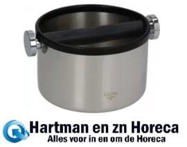 3111080162 - Koffie afklopbak RVS Afm :  ø 170 mm - H 110 mm