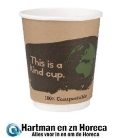 DY985 -Fiesta Green composteerbare dubbelwandige koffiebekers 1 x 500 stuks