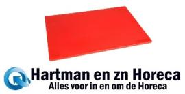 HC859 -Hygiplas antibacteriële LDPE snijplank rood 450x300x10mm
