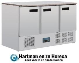 CL109 - Polar G-serie koelwerkbank met marmeren werkblad 368 liter