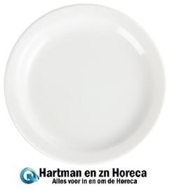 CB486 - Olympia Whiteware borden met smalle rand, Afmeting: 15(Ø)cm - Prijs per 12 stuks