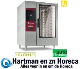 SBES/XC-10 - Combisteamer electrische oven met boiler 10x GN 1/1+ Cleaning DIAMOND