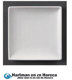 U153 - Olympia vierkant bord Wit 14 cm. Prijs per 12 stuks.