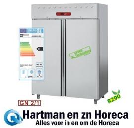 AD2B/H2-R2 - Vrieskast 1400 liter geventileerd, 2 deuren GN 2/1 DIAMOND