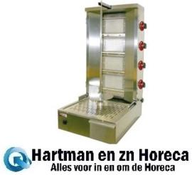 KEB-G81 - Gyros - Doner - Shoarma grill gas 55 kg DIAMOND