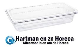 U234 -  Vogue polycarbonaat bak transparant GN1/3 150mm