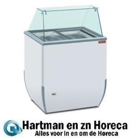BRIO ICE - Uitstal schepijsvitrine voor roomijs, 170 liter DIAMOND