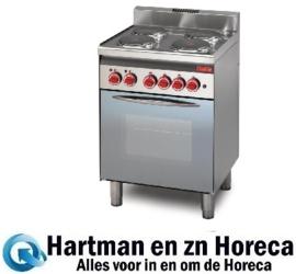 GN015 -Gastro M 600 elektrisch fornuis en elektrische heteluchtoven 60/60 CFE