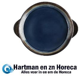 HC335 -Olympia Nomi ronde tapasschalen blauw-zwart 19cm
