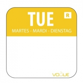L932 - Kleurcode sticker dinsdag/geel