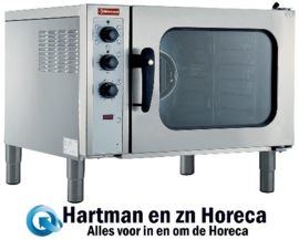 CFE61/R - Elektrische convectie oven 6x GN 1/1, automatische luchtbevochtiger DIAMOND