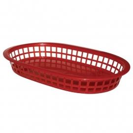 GH967 - Olympia ovale polypropyleen tafelmandjes rood