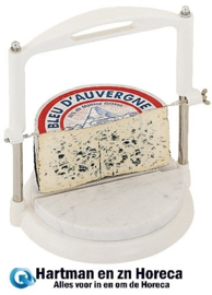 020040 - Kaas guillotine met marmeren voet plank Ø 25 cm, draad 19 cm