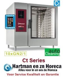 """SDET/XC-12 - Elektrische oven """"TOUCH"""" met boiler, stoom en convectie 10xGN2/1+ Cleaning DIAMOND"""