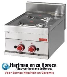 GN017 - Gastro M 600 elektrische kookplaat 60/30 PCE