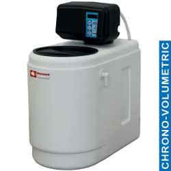 ADD-5/CV - Waterontharder Chrono - en volumemeter, 5L, monoblok
