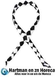 A261 - Whites halsdoek zwart-wit geruit