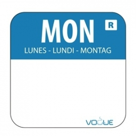 L931 - Kleurcode sticker maandag/blauw