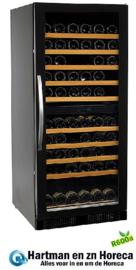 435800001 - Wijnkoelkast 110 flessen recirculatiekoeling , met glazen deur NORDCAP WK270-2