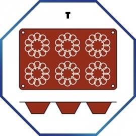 070074 - BAKMAT BRIOCHETTE 1/3 GN in blister-verpakking ROND 79 MM / HOOG 37 MM