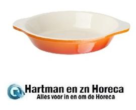 GH316 -Vogue ronde gietijzeren gratineerschaal oranje 0,4L