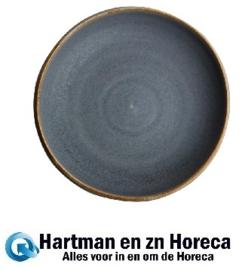 FA306 -Olympia Canvas diepe coupe borden blauw graniet 23cm -6stuks