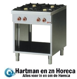 G65/4BP7-EC - Fornuis met 4 branders, op open kast DIAMOND Base 650
