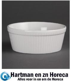 C042 -Olympia Whiteware ronde taartschaal 5,3x13,4cm