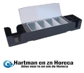 D871 - Bar center. zwart. Afmeting 95x605x155cm.