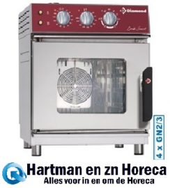 FVS-423 - Combisteamer elektrische oven 4x GN2/3 mechanisch DIAMOND