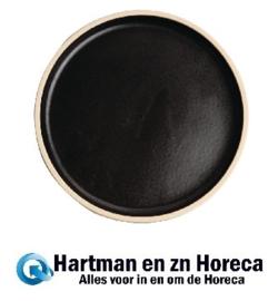 FA314 -Olympia Canvas platte ronde borden zwart 18cm