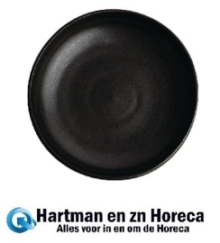 FA320 -Olympia Canvas diepe coupe borden zwart 23cm 6stuks