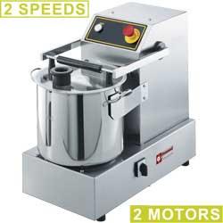 CSP2/15B Cutter in R.V.S., 15 liter, tafelmodel, 2 snelheden DIAMOND