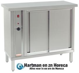 921235 - Hetelucht bordenwarmer voor 120 borden - 1000W - 105x46x(h)90cm