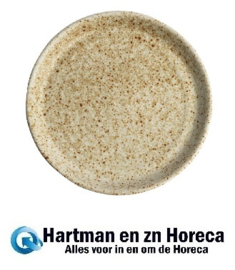 FA337 -Olympia Canvas ronde borden met smalle rand crème 18cm