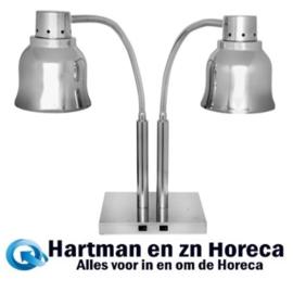 508016 - Dubbele warmhoudlamp 2 x 250 Watt - 230 Volt