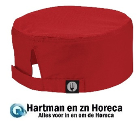 A956 -Chef Works Cool Vent beanie rood