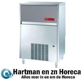 ICEV250W - Vlakke ijsblokjes machine 105 kg + reserve - Water gekoeld DIAMOND