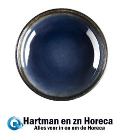CW524 -Olympia Nomi ronde tapasdipschaaltjes blauw-zwart 9,5cm  -12stuks