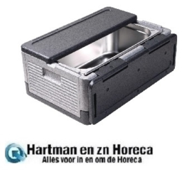 HHGF293 - Thermo Future Box zwart opklapbaar GN 1/1 38ltr