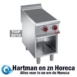 E9/2SPA4 - Elektrisch fornuis met 2 verlaagde kookplaten op open kast mm (BxDxH) : 400x900xh850/920 DIAMOND