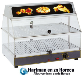304401 - Rollergrill warmhoudvitrine - 600x400x480 mm (bxdxh)