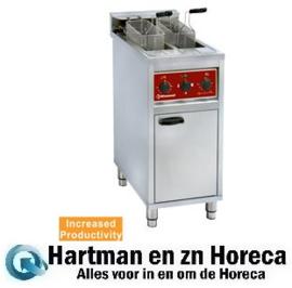 FSM-2V6E/N - Electrische friteuse 2x 10 liter. op kast DIAMOND