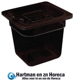 U471 - Vogue polycarbonaat bak zwart GN1/6 150mm