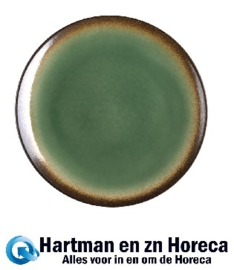 CS298 - Olympia Nomi ronde tapascoupeborden groen-zwart 19,8cm