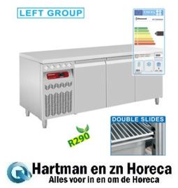 DT178/R2GX - Geventileerde koelwerkbank, 3 deuren GN 1/1, 405 Lit. groep aan linkerkant - mm (BxDxH) : 1755x700xh850/900 DIAMOND